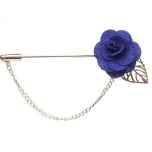 Men's Petal Lapel Pin - Purple