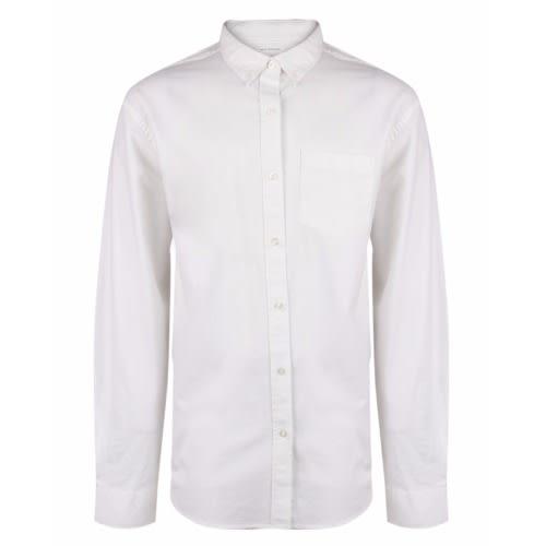 Old Navy Men S Plain Slim Fit Stretch Oxford Shirt White Konga