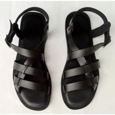 c014a58f5195 Men s Premium Classic Leather Sandals - Black