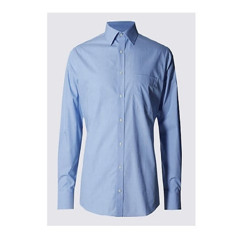 Men's Regular Fit Shirt - Blue