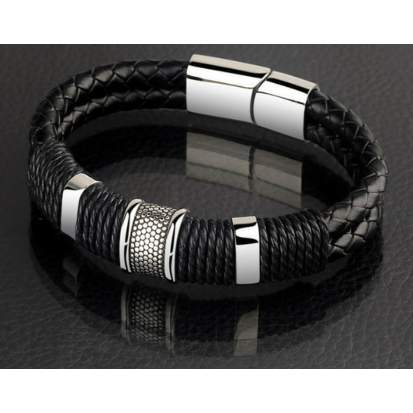 /M/e/Men-s-Signature-Leather-Bracelet---18-5cm-5888091_1.jpg
