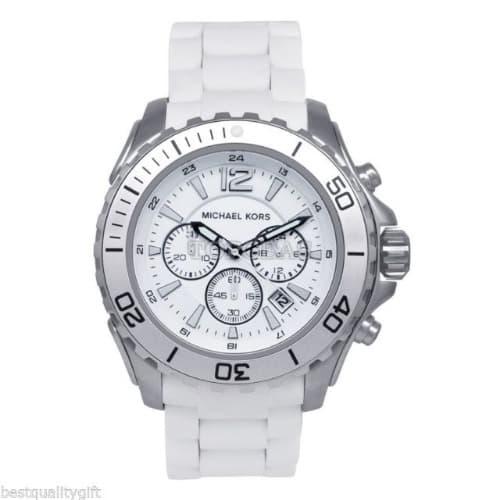 57e4a768771d Michael Kors Men s Silicone Chronograph Watch - MK8210 - White ...