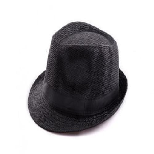 0b5f345f89875 Men s Straw Fedora Hat - Black