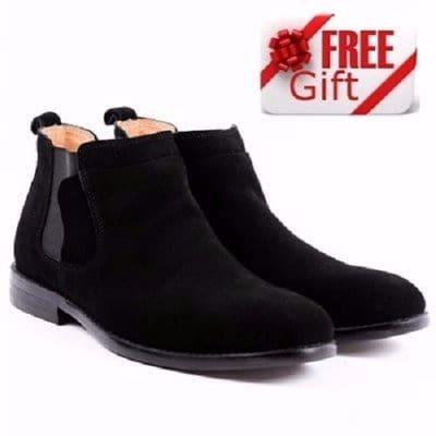 Men's Suede Ankle Shoe - Black