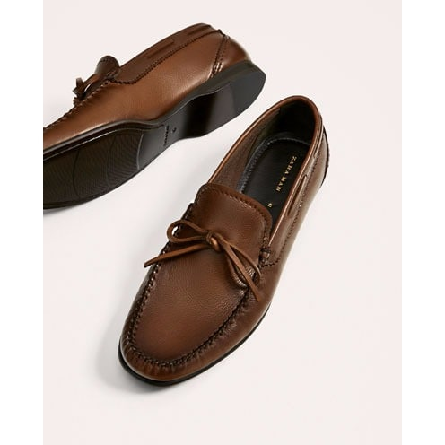 7ca430579e6 Zara Men s Tassel Loafer - Brown