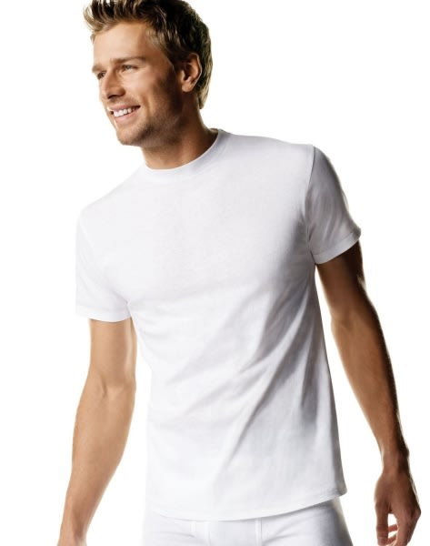 ef52088370 Men's White Tagless Crewneck Undershirt - 6-Pack