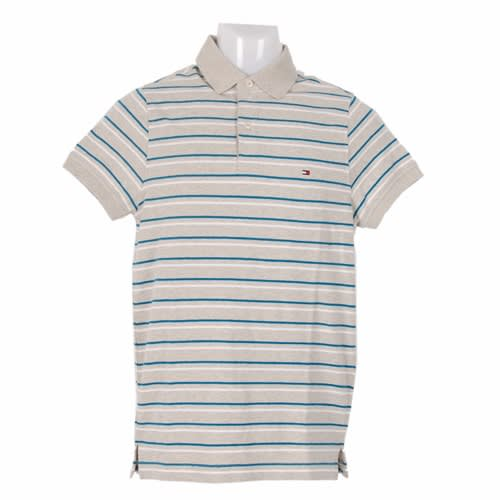f5d078d1 Tommy Hilfiger Men's Winchester SS Pique Polo Shirt - Grey & White ...