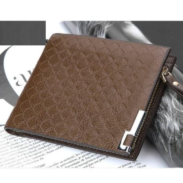 b31ab7f286a5 Men's Zipper Leather Wallet – Coffee Brown   Konga Online Shopping