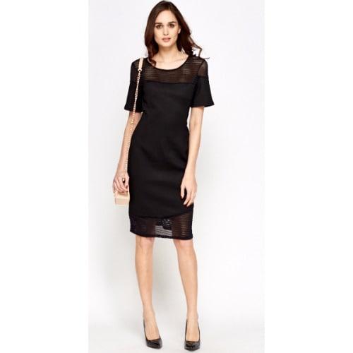 0e361ac4ff7da0 Horlah deals Off Shoulder Floral Skater Dress - Black