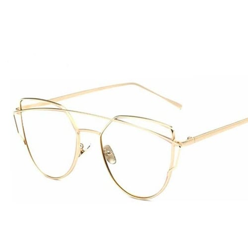 270e1a1371d Unisex Glasses with Gold Shield Frame