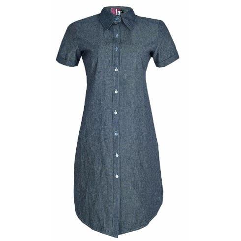 new specials buy online save up to 80% Midi Length Denim Shirt Dress - Grey