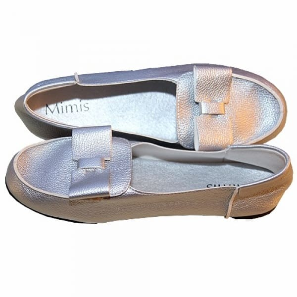 /M/i/Mimis-Soft-Leather-Bow-Flat-Shoe---Silver-6086641_1.jpg