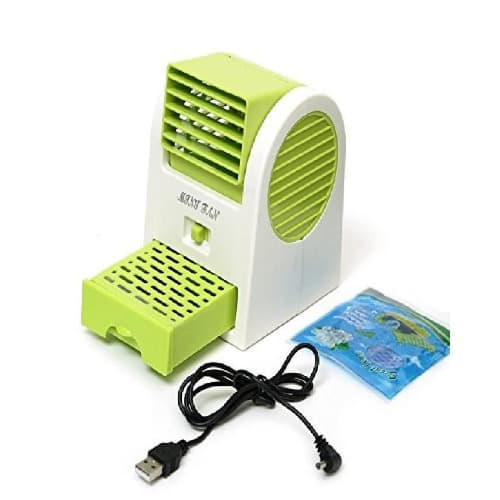 Mini Air Conditioner USB Cooler Fan With Fragrance - Green