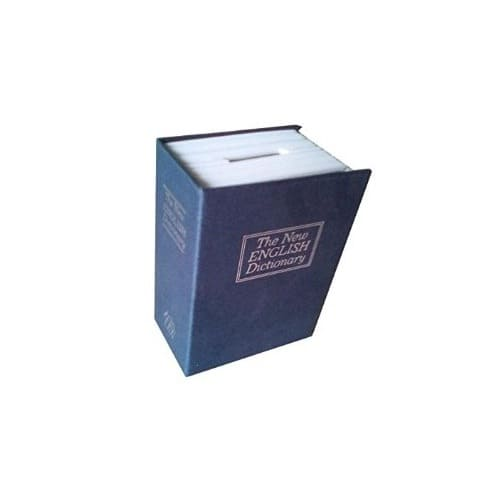 Mini Hidden Book Safe with English Dictionary Book Cover
