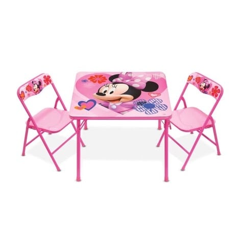 Stupendous Minnie Mouse Activities Table Chair Set Customarchery Wood Chair Design Ideas Customarcherynet
