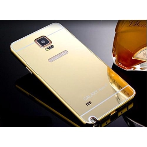 new arrival 83b27 e0d77 Mirror Back Case For Samsung Note 4 - Gold