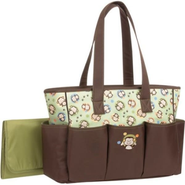 /M/o/Monkey-Motif-Diaper-Bag-with-Changing-Mat---Brown-Green-7010120.jpg