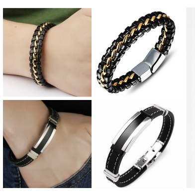 /M/u/Multicolour-Leather-and-Silicone-Bracelets-Bundle---2pcs-6005308.jpg