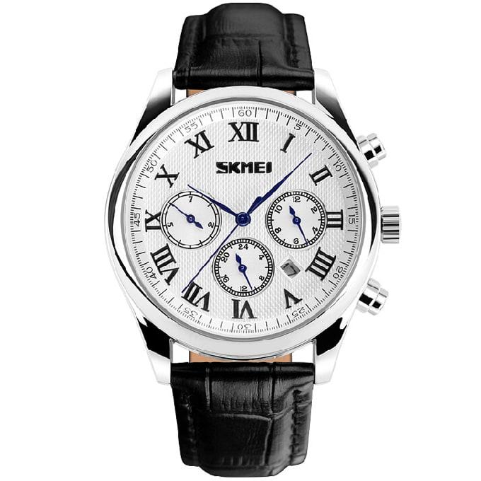 e105410c2 Skmei Multifunction Chronograph Leather Watch   Black   Konga Online ...