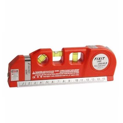 Multipurpose Laser Level Aligner Bubbles Ruler – 8ft Tape