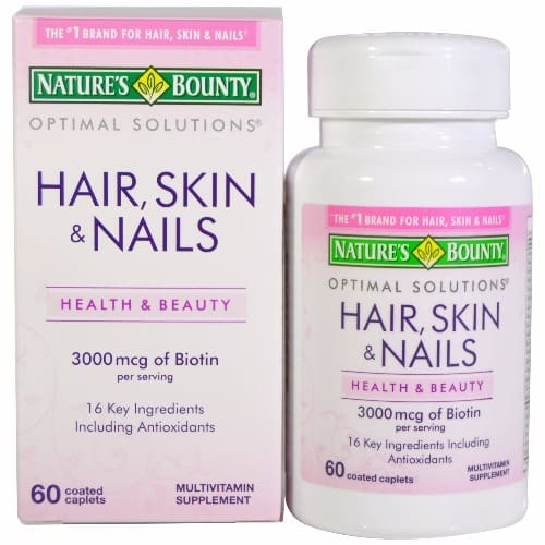 Nature\'s Bounty Multivitamin Supplement for Hair, Skin & Nails - 60 ...
