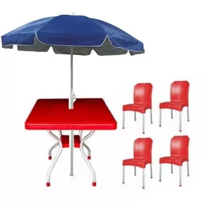 17f4e7e406 Square Table With 4 Aluminium Curved Legs Chairs And 60 Inches Wide ...