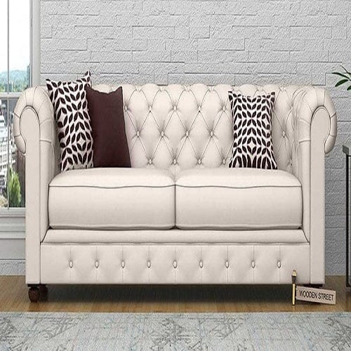3 Seater Chesterfield Fabric Sofa