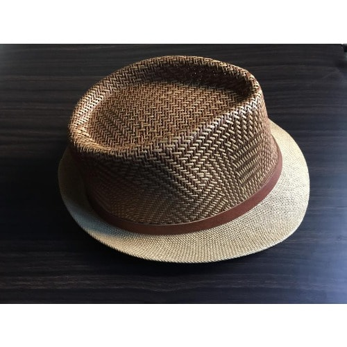 Classy Men's Luxury Wooven Sun Hat- Brown