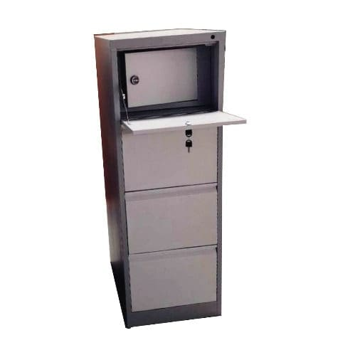 4 Drawers Metal Office File Cabinet - First Drawer Safety Locking System