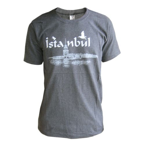 faf0a394b2a Men s Istanbul Short Sleeve Round Neck T-Shirt- Grey