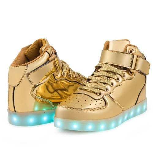 10c8212e4344fe Air Balance LED Light Up Shoes - Gold