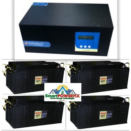 2.5kva Inverter With 4 Super Rugged Index Batteries