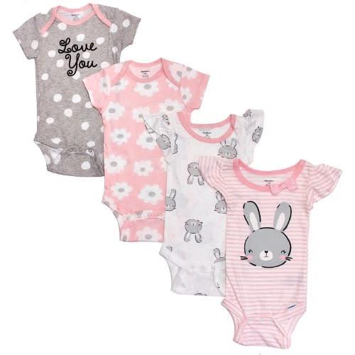 7ee2400ec Gerber Baby Girls 4-pack Bunny Bodysuits | Konga Online Shopping