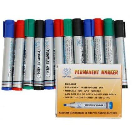 Permanent Marker - Set Of 12.