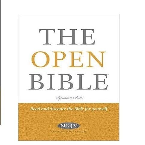 NKJV, The Open Bible, Hardcover, Multicolor (Signature)