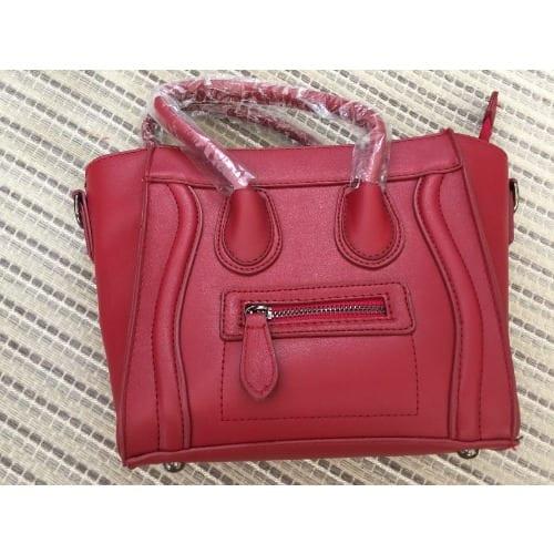 2cf475e8378 Women's Ladies Designer Leather Style Celebrity Tote Smile Shoulder ...