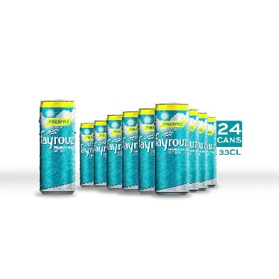 Pineapple Premium Sparkling Soft Drink – 33cl Sleek Can X 24 Pack.