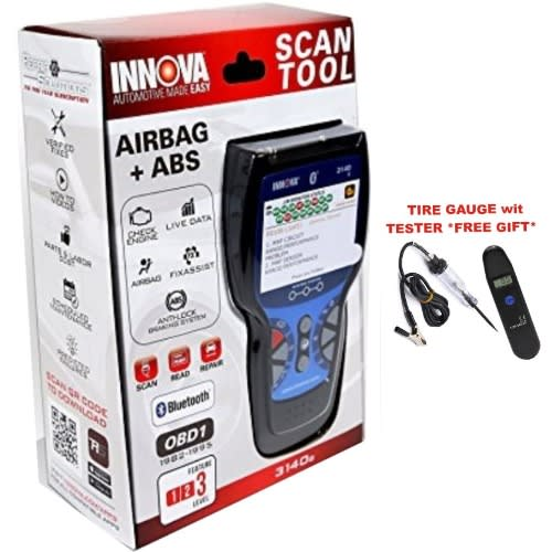 Innova 3140g Professional Cars Scanner With Abs Srs Functios, Obd2 & 1  Sockets