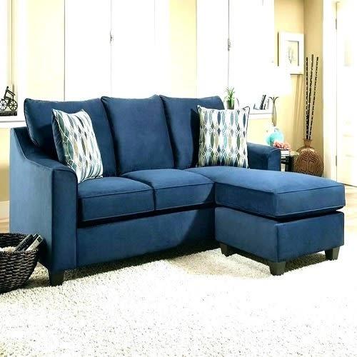 L Shape Navy Blue Sofa