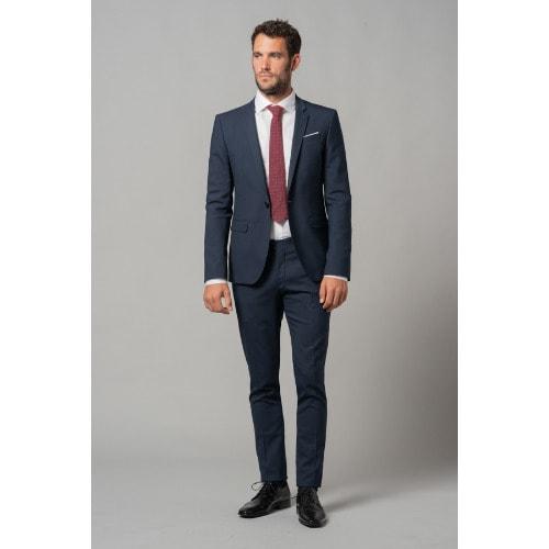 173935fc35185 Men s Fitted Suit  Light Navy Blue