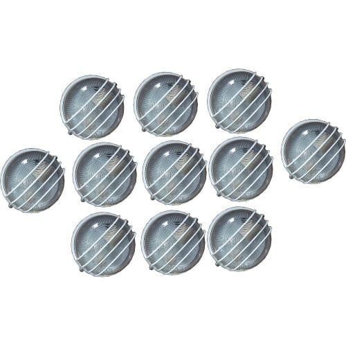 10 Pieces Round Outdoor Wall Lamp & Fence Light