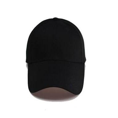 dd178b4c09d3f Zedhats Plain Black Face Cap - 100 Bulk Pieces