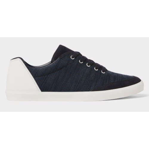 3a4983f3fee3d Zara Contrasting Navy Blue Sneakers
