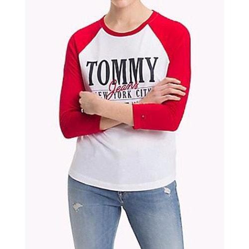 cc487858 Tommy Hilfiger Raglan Logo T-shirt- Red Sleeve | Konga Online Shopping