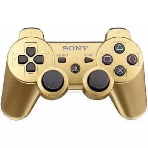 Wireless Controller For Sony Ps3 Game - Gold