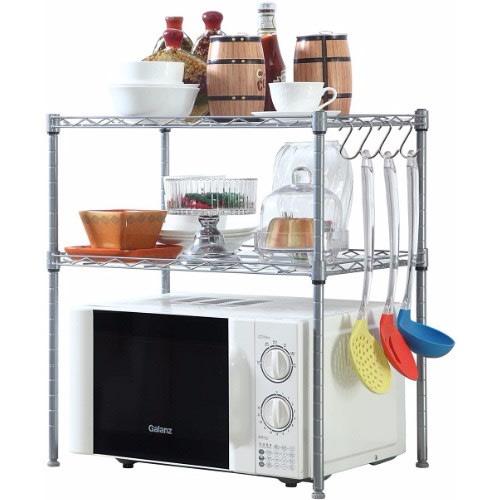 kitchen microwave oven rack shelving unit 2 tier