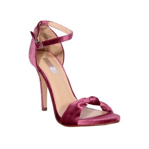 441bc976544 Velvet Heeled Sandal