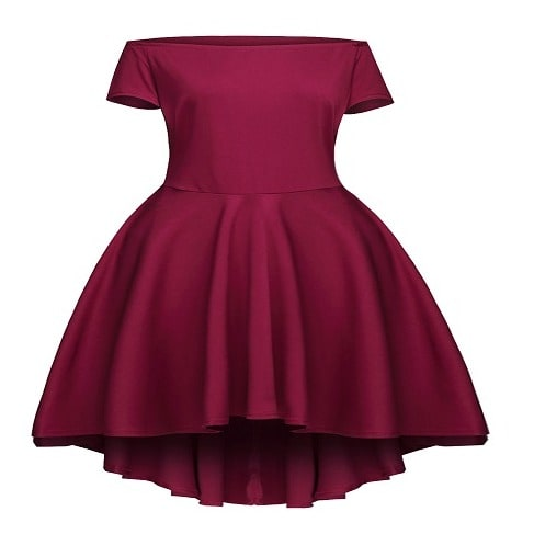 60068fb3f774 Women s High-Low Off-Shoulder Midi Dress - Burgundy