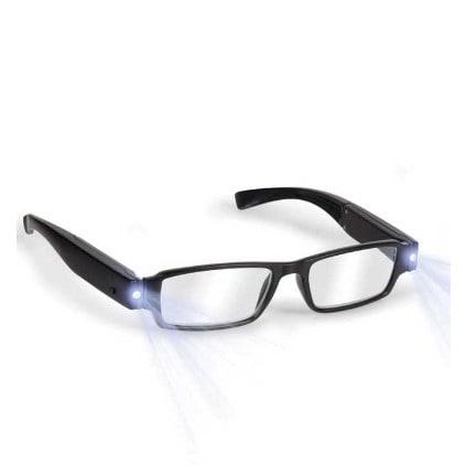 Stylish Unisex Reading Glasses with Dual Led Light – +1.50