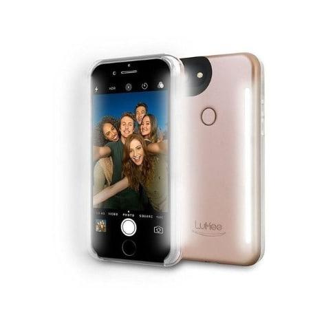 Selfie Light Case For iPhone 5-5S-SE – 4.7″ – Rose Gold Matte